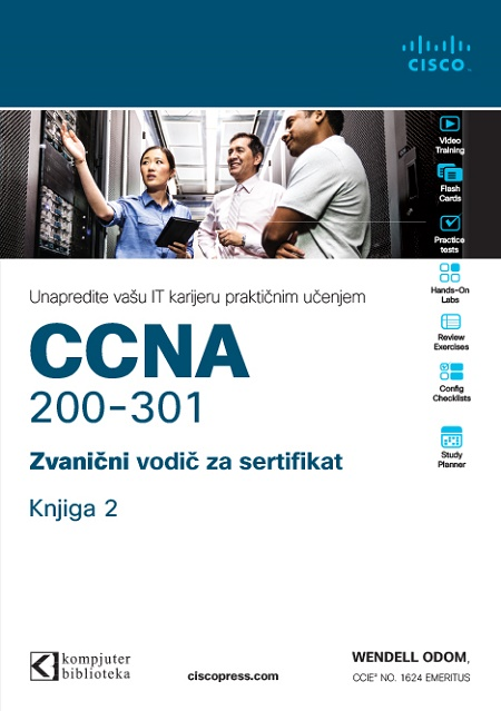 CCNA 200-301 zvanični vodič za sertifikat, knjiga 2