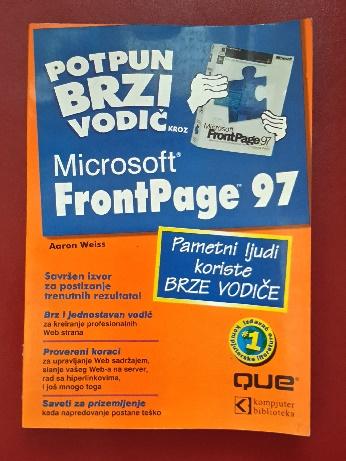 FrontPage 97 – Potpun brzi vodič