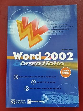 Word 2002 – Brzo i lako